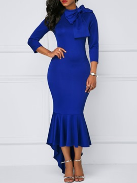 Ericdress Asymmetric Bowknot Mermaid Bodycon Dress