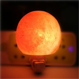 Ericdress Hot Round Romantic Himalayan Crystal Salt Wall Lamp