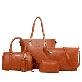 Ericdress Vintage Embossing Zipper Women Handbag (6 Bag Set)