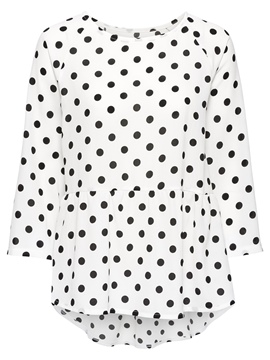 Ericdress Loose Polka Dot Mid-Length T-shirt