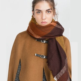 Ericdress Autumn&Winter Khaki Thicken Women's Scarf