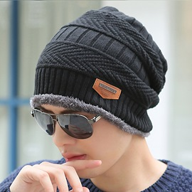 Ericdress Stylish Knitting Warm Outdoor Men's Hat