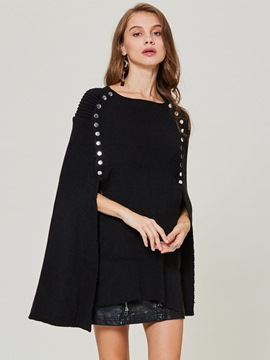 Ericdress Rivet Knit Pullover Plain Women's Cape