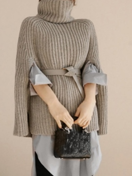 Ericdress Turtleneck Thick Plain Cape