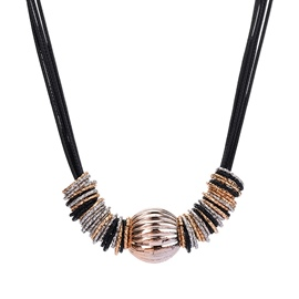 Ericdress Trendy Imitation Leather Rope Necklace for Women