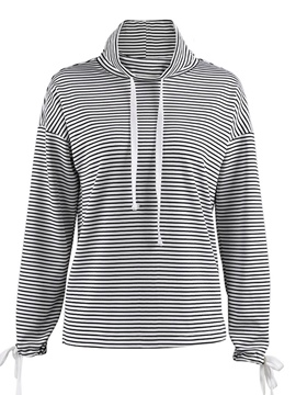 Ericdress Loose Lace-Up Stripe Cool Hoodie