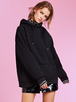 Ericdress Kangaroo Pocket Double-Layer Pullover Hoodie