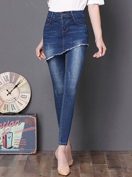 Ericdress High-Waist Slim Denim Women's Leggings