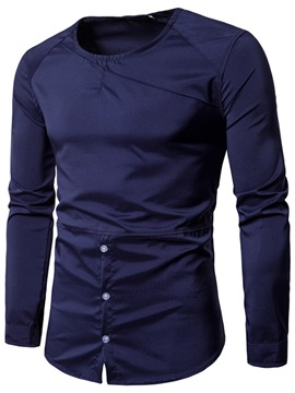 Ericdress Fashion Round Neck Long Sleeve Slim Men's T-Shirt