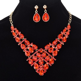 Ericdress Sparkling Colorful Rhinestone Women's Jewelry Set