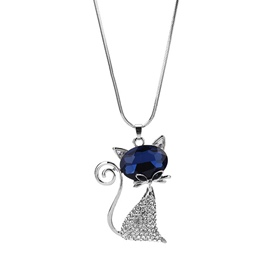 Ericdress All Match Cat Pendant Sweater Necklace for Women