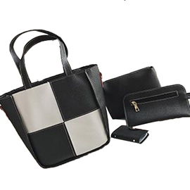 Ericdress Patchwork Plaid Design Women Handbag