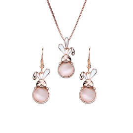 Ericdress Rabbit Pendant Jewelry Set for Women
