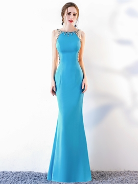 Ericdress Sheath Mermaid Beaded Evening Dress