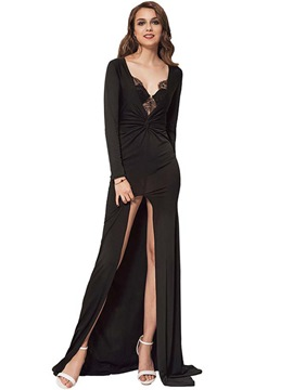 Ericdress Lace Mermaid With Side Slit Maxi Dress