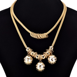 Ericdress Punk Stye Metal Necklace for Women