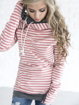 Ericdress Thick Stripe Zipper Sweatshirt