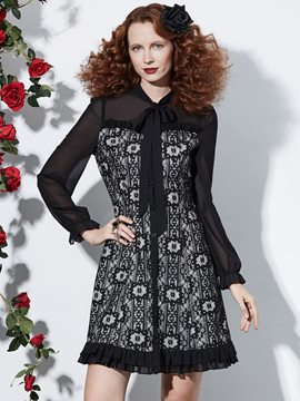 Ericdress Halloween Long Sleeves Lace Women's Dress