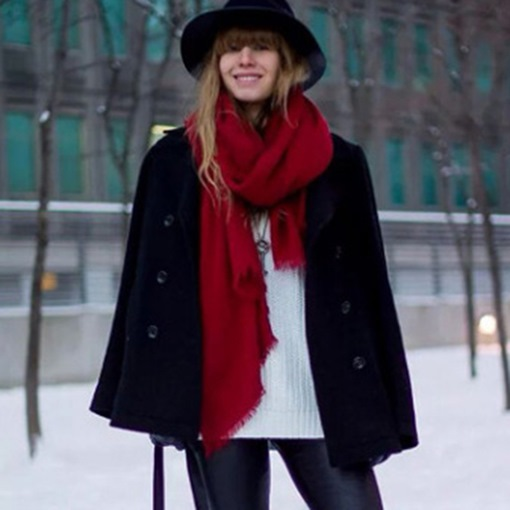 Ericdress Soild Color All Match Warm Scarf for Women