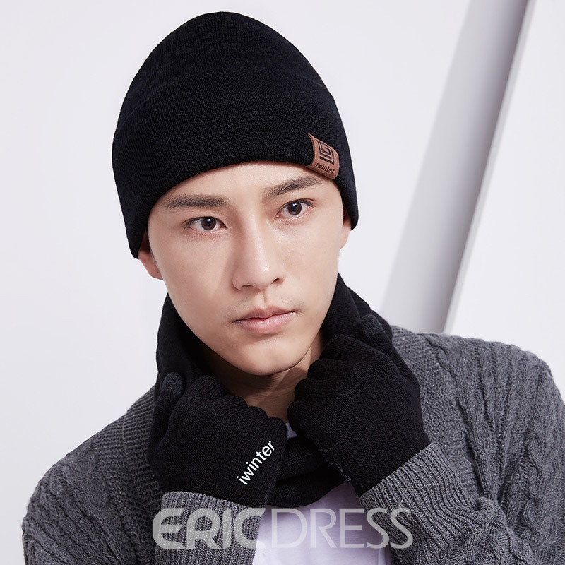 Ericdress High Quality Mens 3-piece Hat&scarf&gloves
