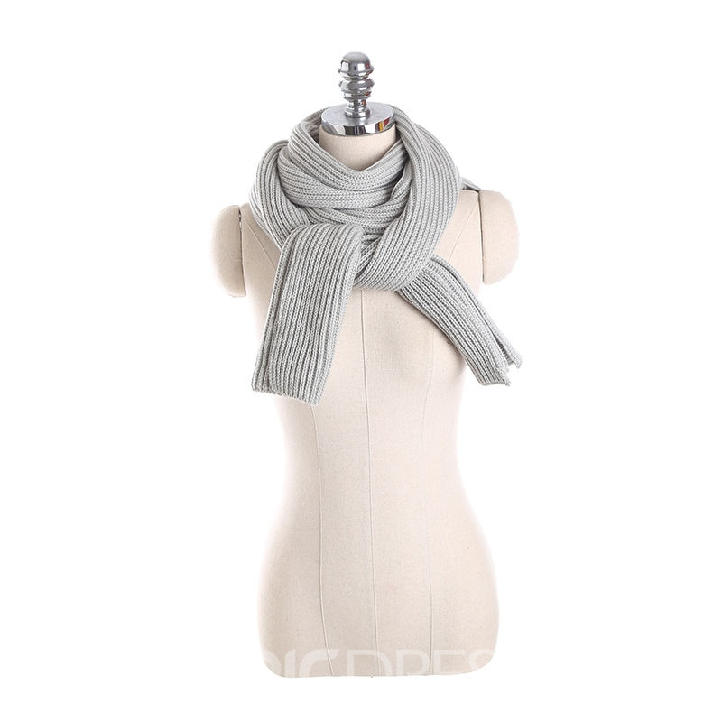 Ericdress Pure Color Knitting Women's Scarf with Hood