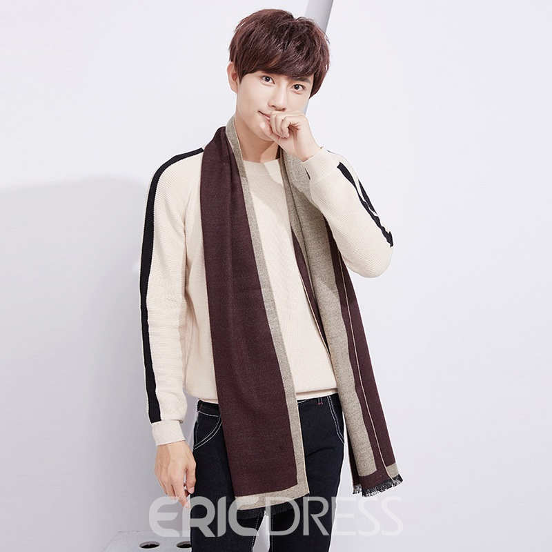 Ericdress All Match Imitation Cashmere Tassel Men's Scarf