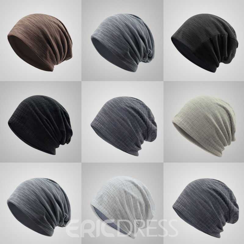Ericdress Double Layer Knitting Solid Color Men's Hat