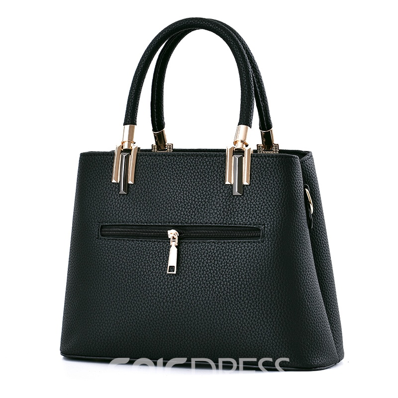 Ericdress Huge Space Patchwork PU Handbag
