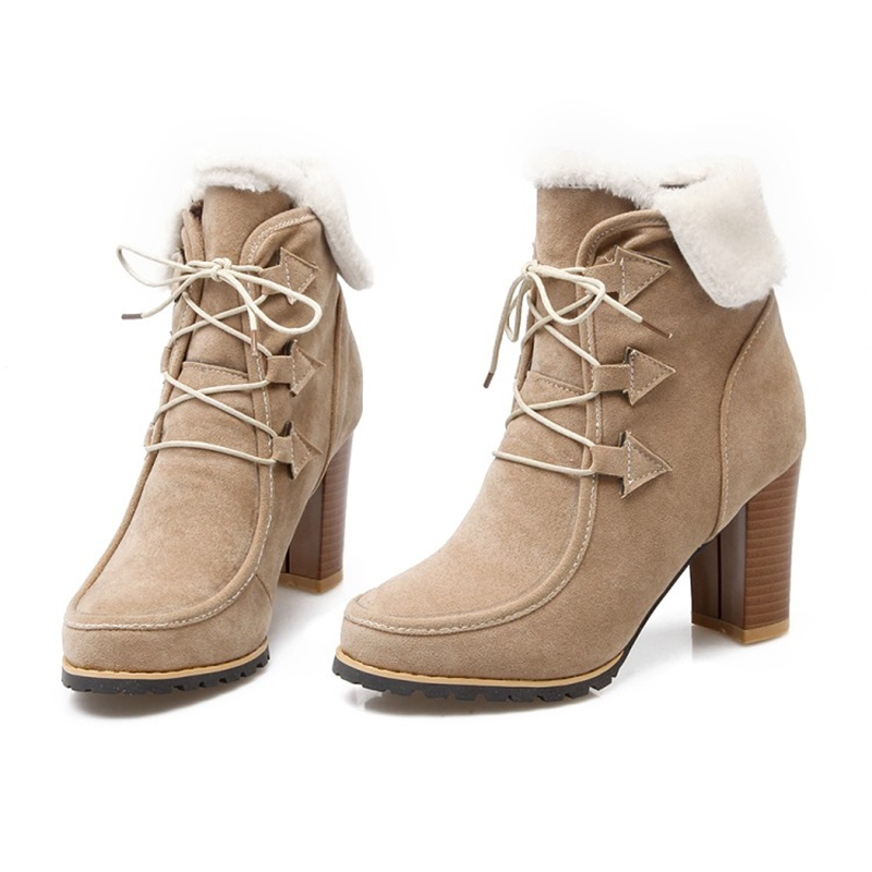 Ericdress British All Match Women's Chunky Heel Ankle Boots