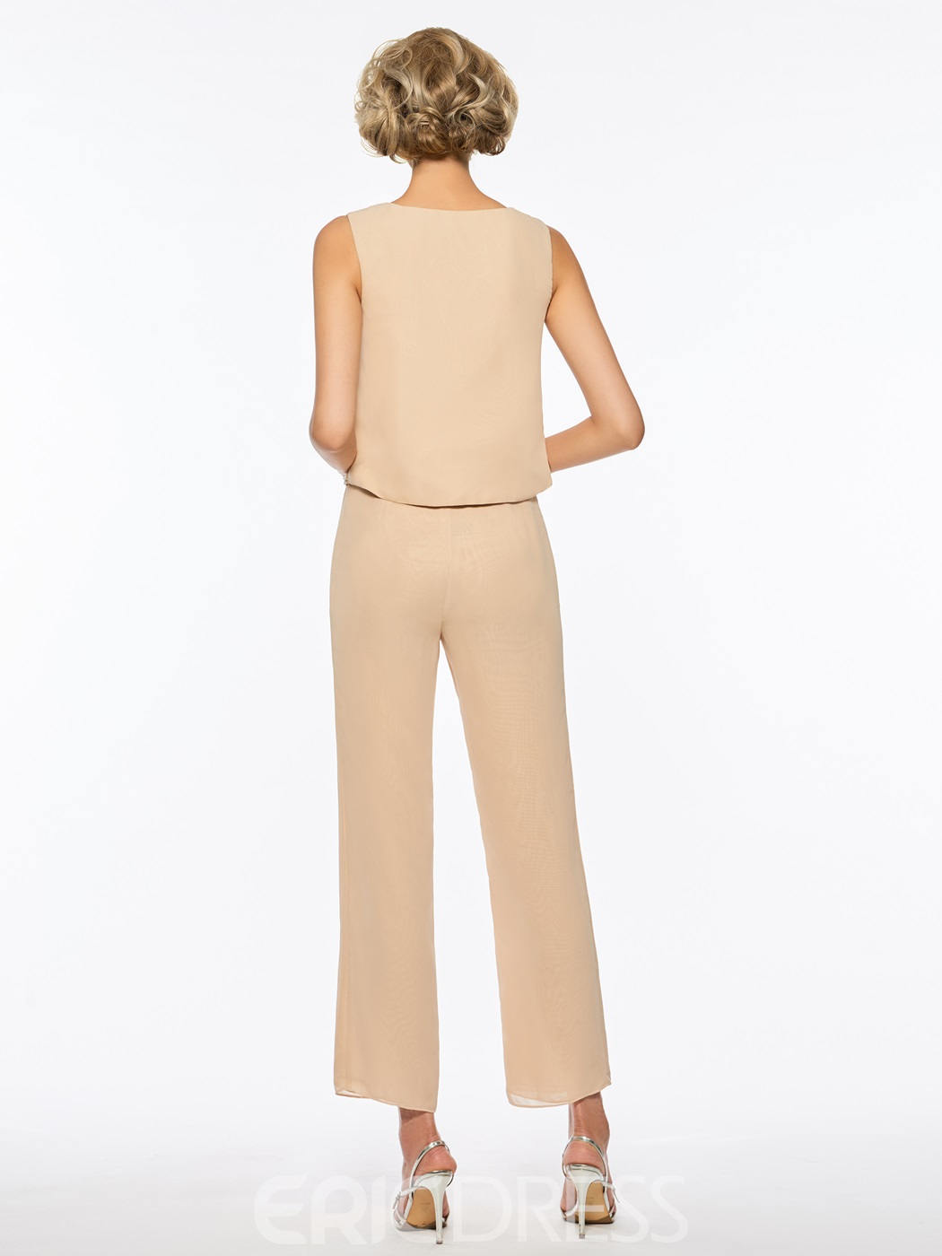 Ericdress Chiffon Long Sleeves Mother of the Bride Jumpsuit