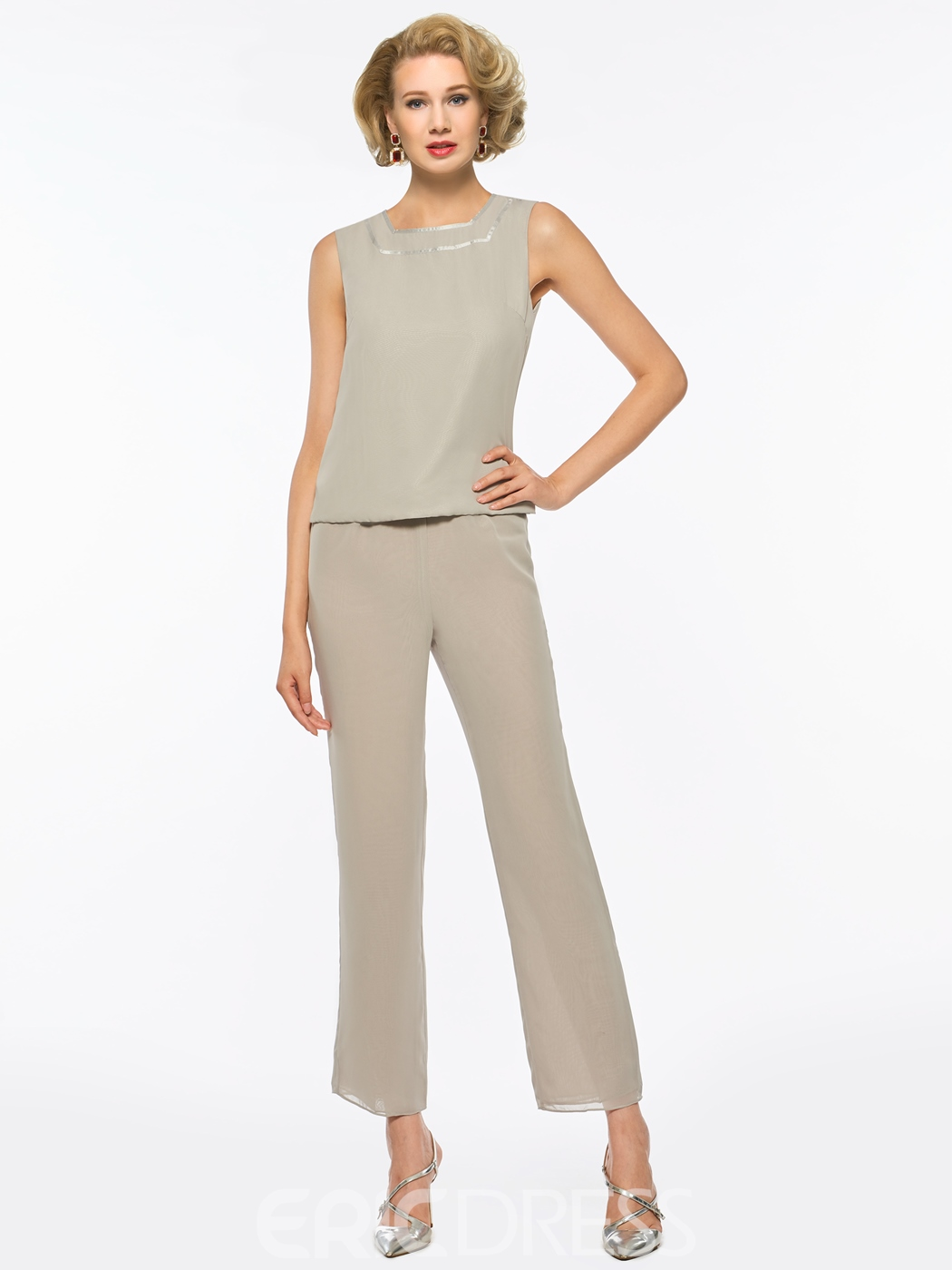 Ericdress Straps 3 Pieces Mother of the Bride Pantsuits with Jacket