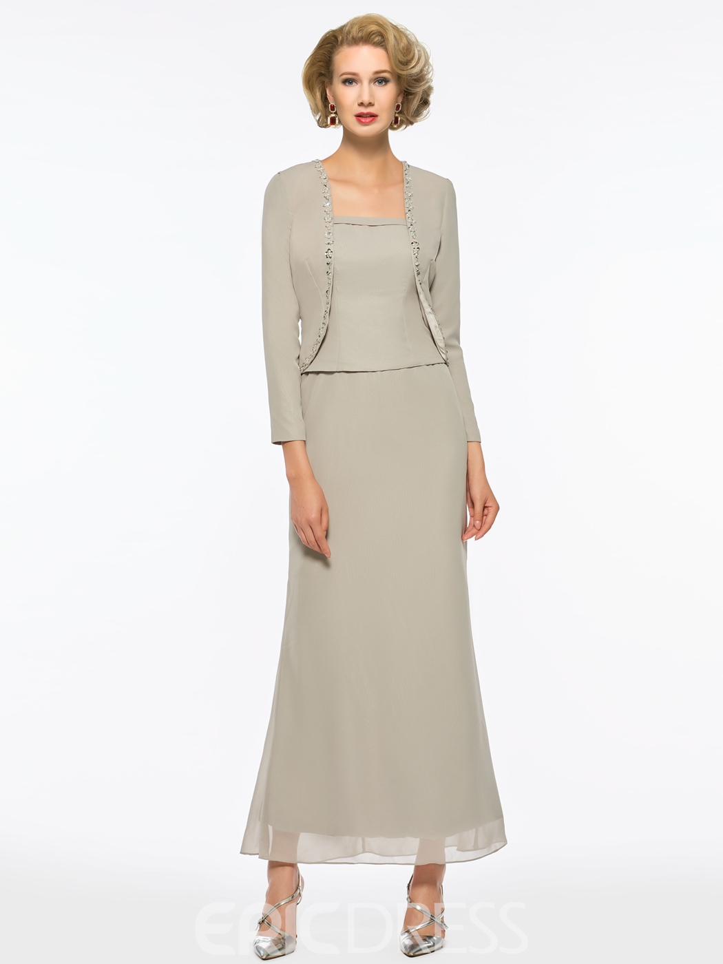 Sheath Mother of the Bride Dress