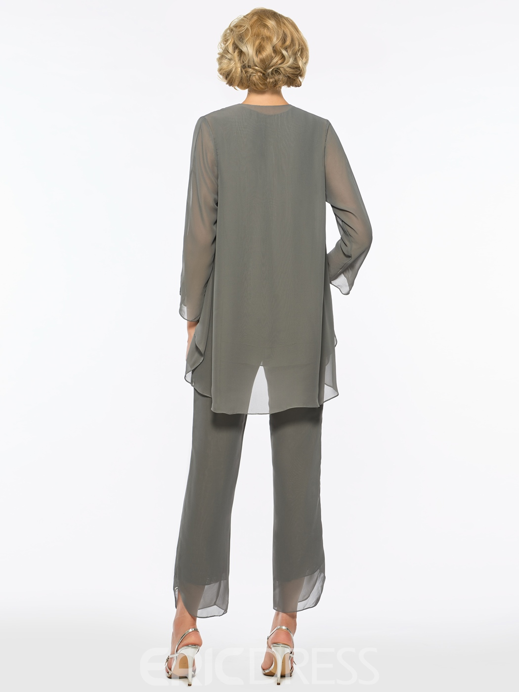 Ericdress Modest Chiffon Long Sleeves Mother of the Bride Jumpsuit