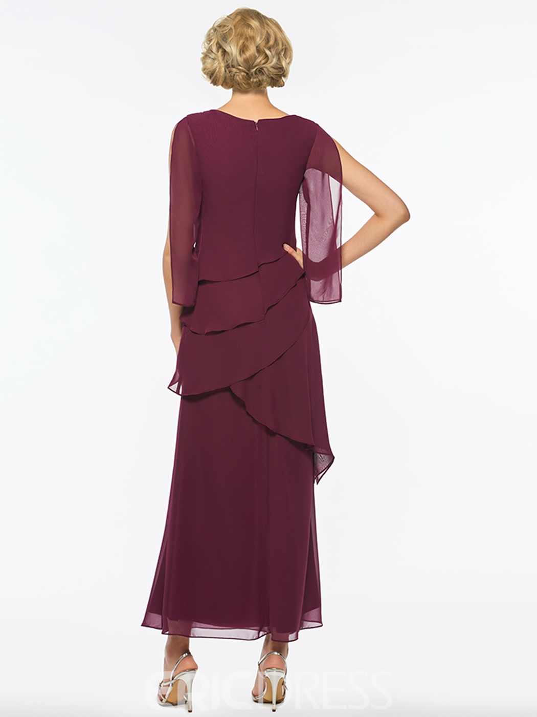 Mother of The Bride Dress Chiffon A Line Ankle Length