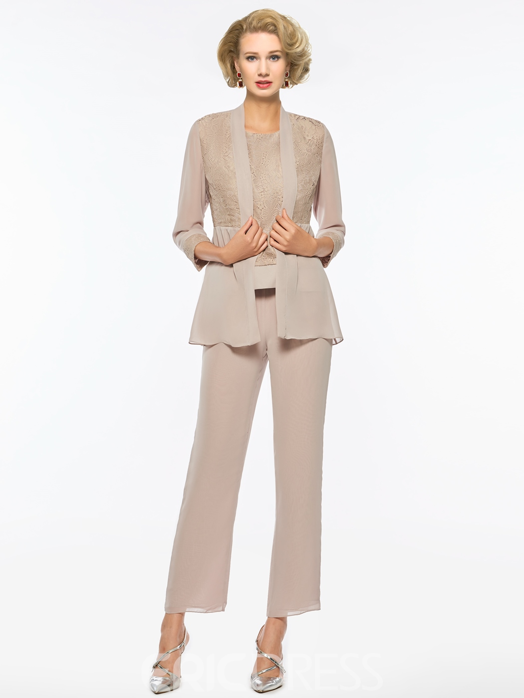 ccaef57c7444 Ericdress Chiffon Mother of The Bride Jumpsuit with Jacket 13020722 ...