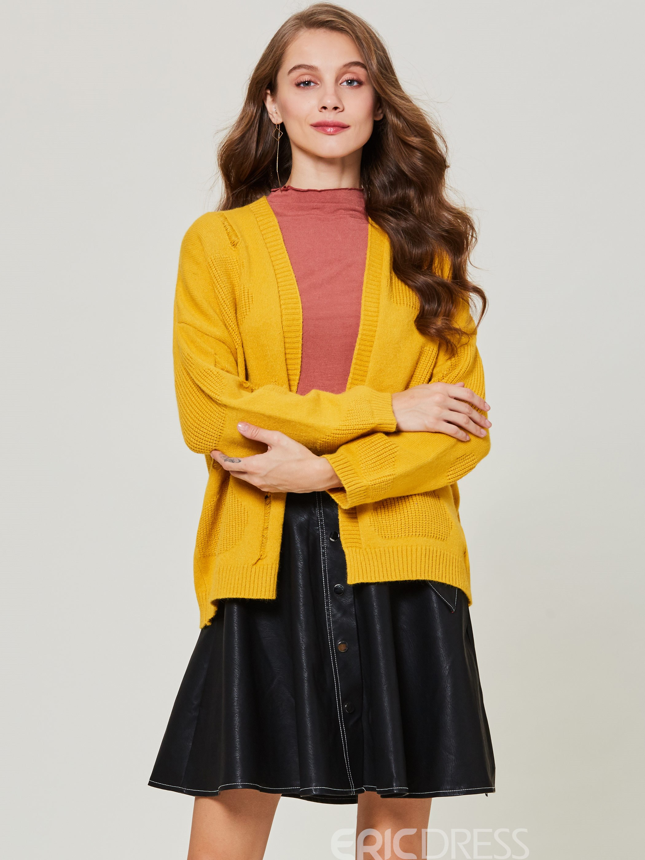Ericdress Loose Hole Cardigan Wrapped Women's Sweater