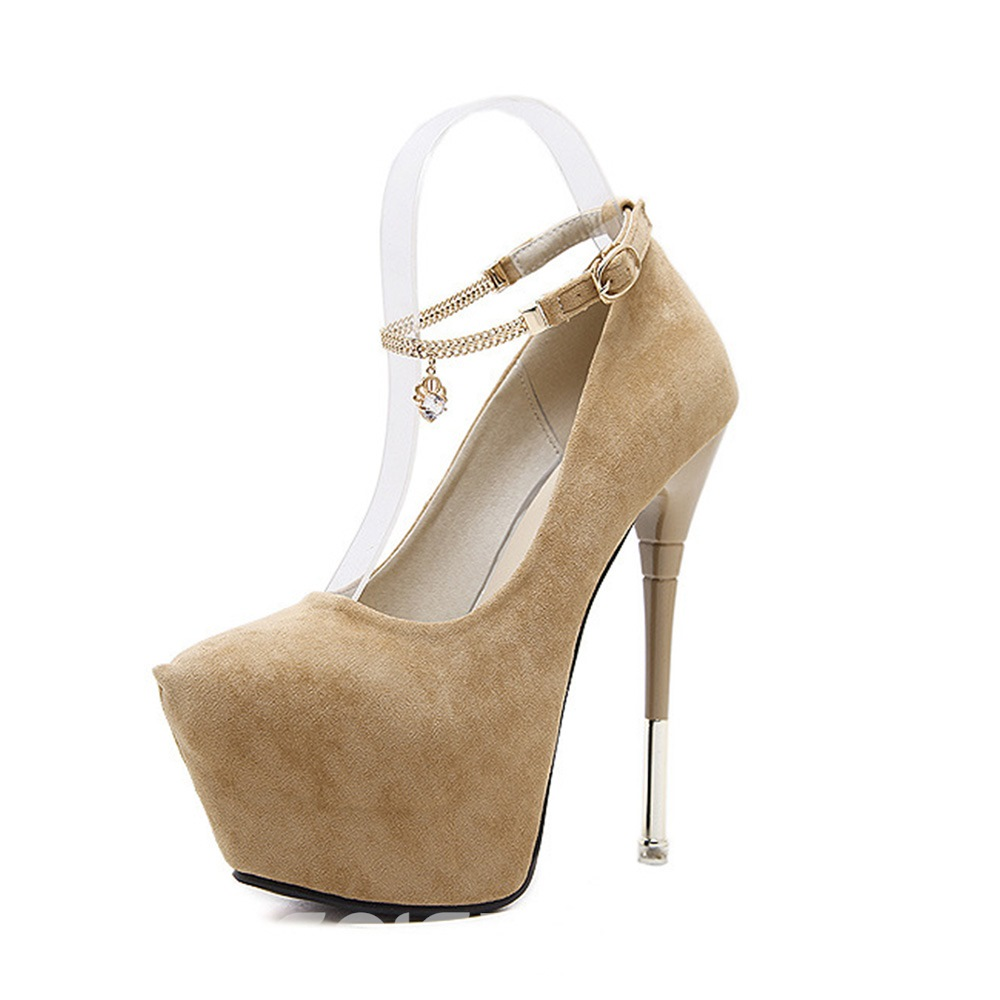 Ericdress Rhinestone Platform Plain Stiletto Heel Women's Shoes