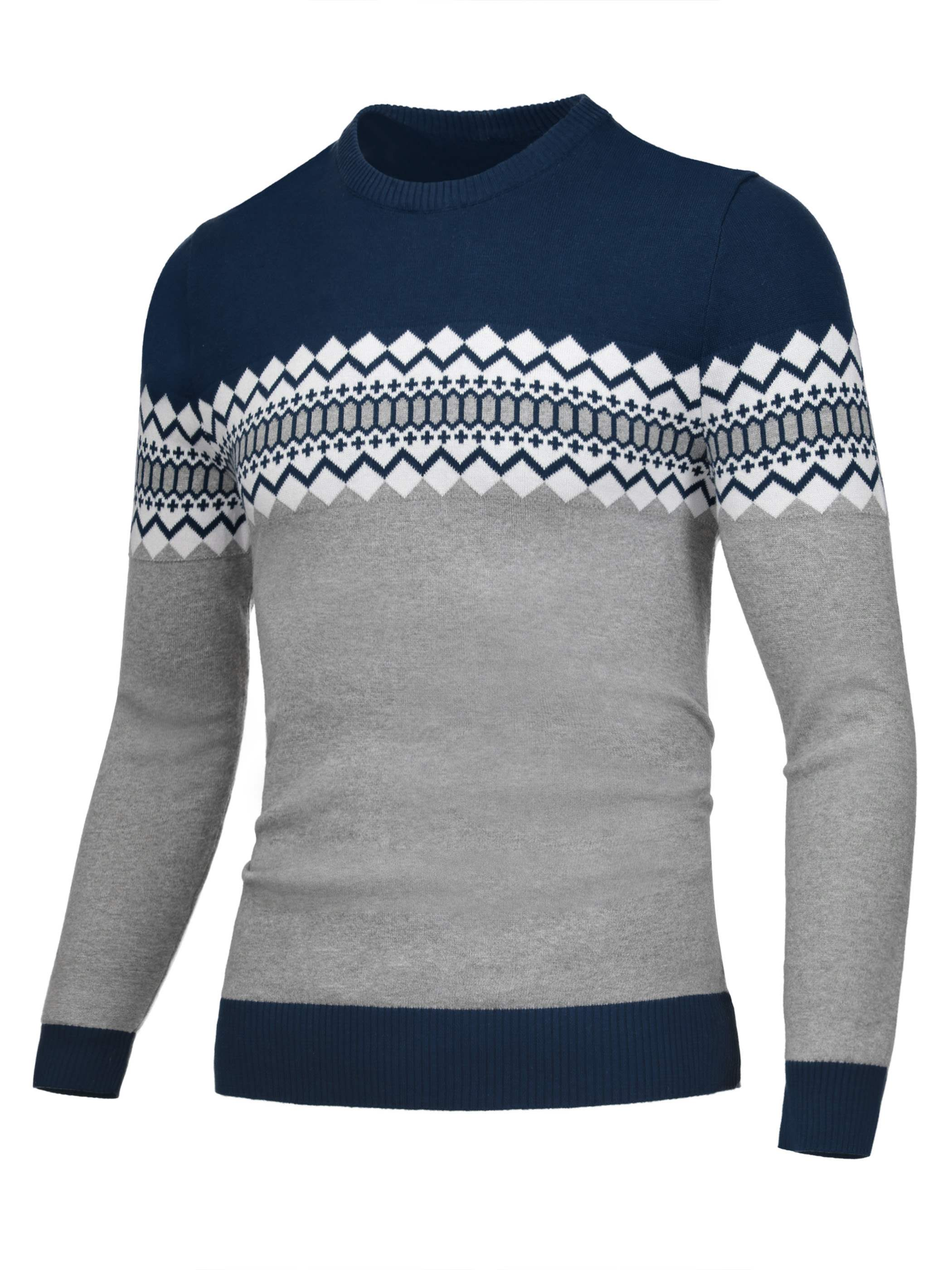 Ericdress Color Block Pattern Decorated Men's Sweater