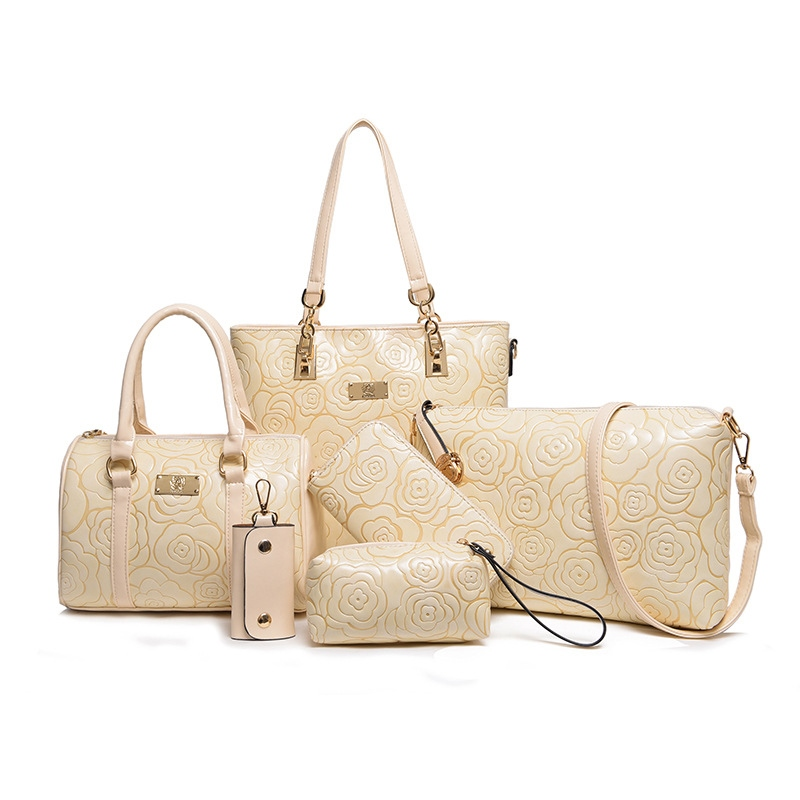 Ericdress Vintage Chinoiserie Embossing Women Handbag (6 Bag Set)