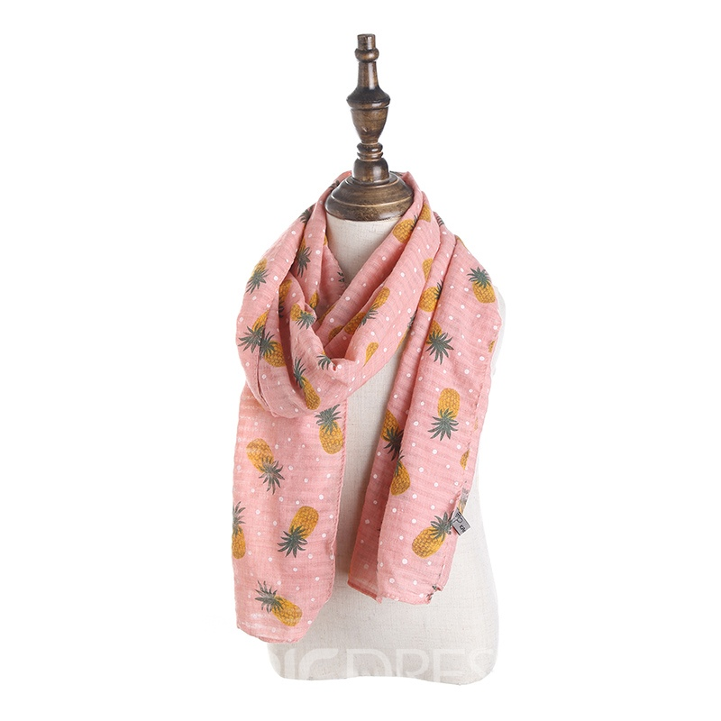 Ericdress Pineapple Printed Creative Kid's Scarf