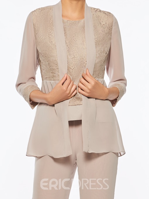 Ericdress Chiffon Mother of The Bride Jumpsuit with Jacket