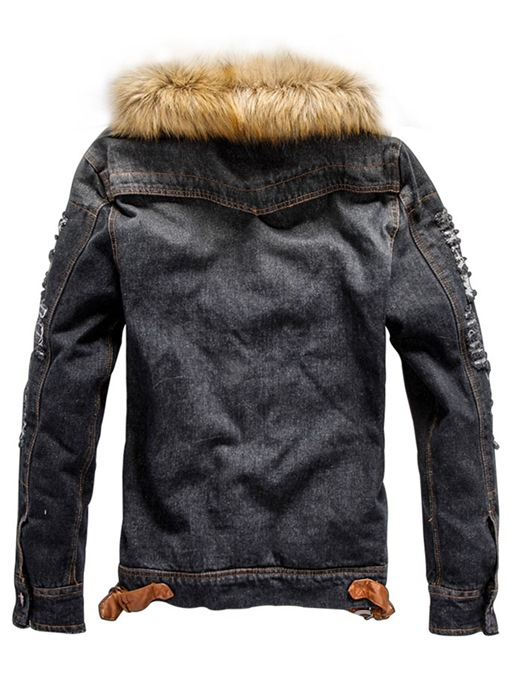 Ericdress Lapel Thick Slim Single-Breasted Men's Jacket