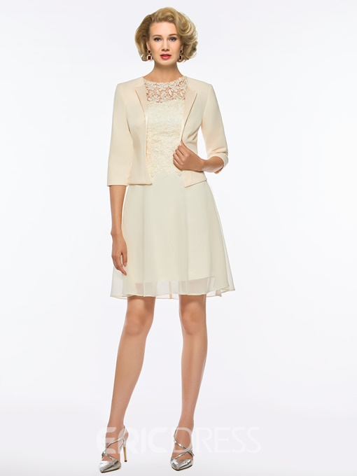 Ericdress Knee Length Lace Mother of the Bride Dress with Jacket