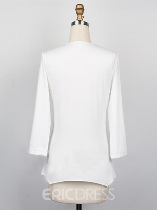 Ericdress Loose Pleated T-shirt