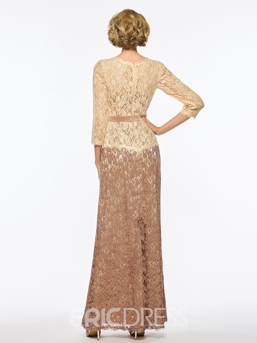 Ericdress Lace Sheath Mother of the Bride Dress with Sleeves