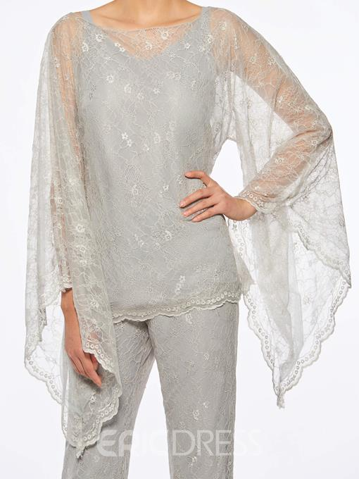 Ericdress 3 Pieces Lace Mother of The Bride Pantsuits