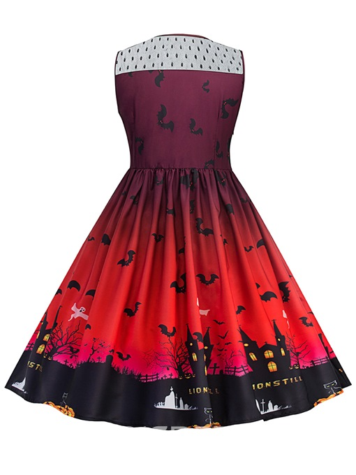 Ericdress Halloween Mesh Expansion A Line Dress