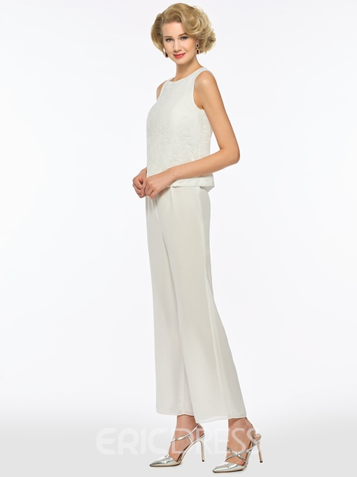 Ericdress Chiffon Mother of The Bride Jumpsuit with Long Sleeves Jacket