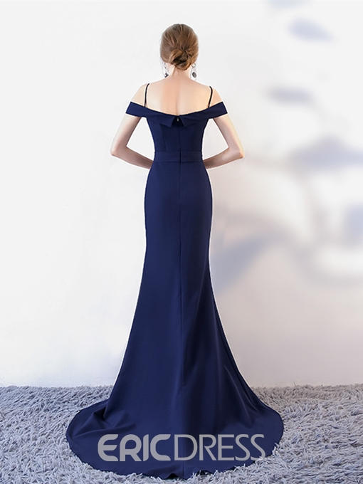 Ericdress Off The Shoulder Spaghetti Straps Mermaid Evening Dress