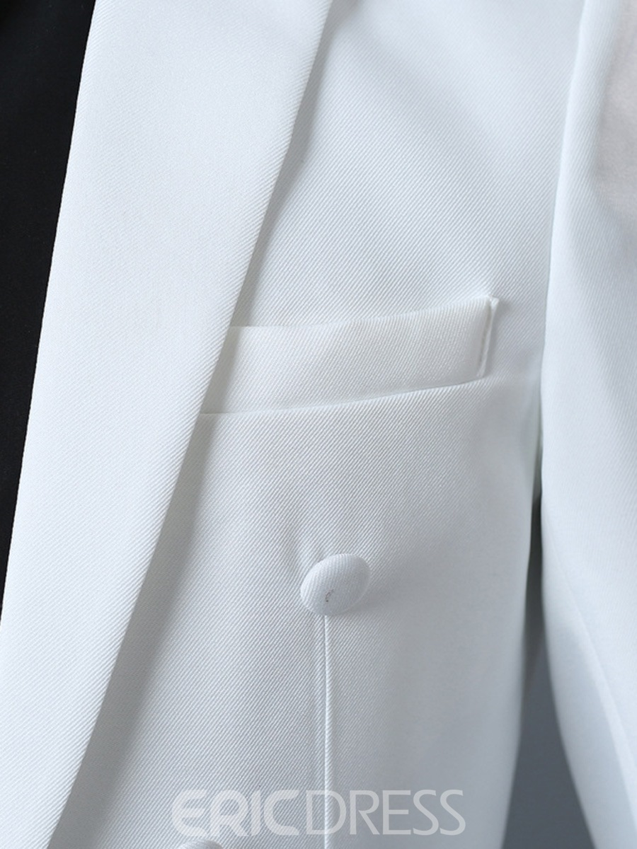 Ericdress Plain One Button Blazer Pants Mens swallow-tailed Party Dress Suit